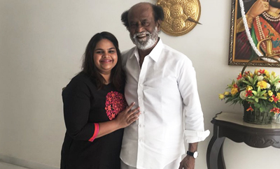 Comedienne takes Rajinikanth's blessings