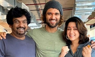 Puri Jagannadh, Charmme wear their love of Vijay Deverakonda on sleeves