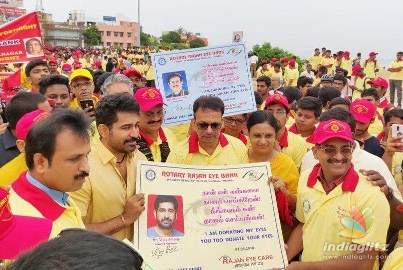 Vijay Antony flags off eye care centre