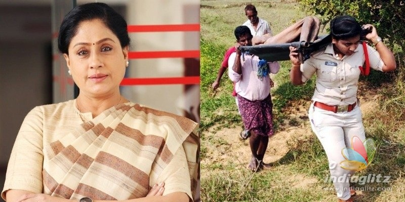 Vijayashanthi lauds lady SI whose father was inspired by Kartavyam