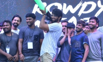 Vijay Deverakonda interacts with his Rowdy club members