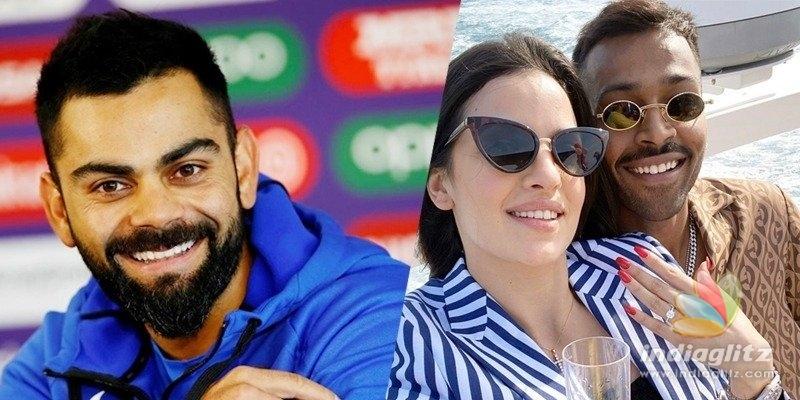 Virat Kohli is surprised after Pandya announces engagement
