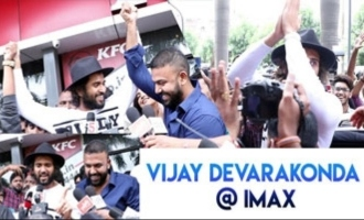 Vijay Devarakonda Hungama At Imax Theatre
