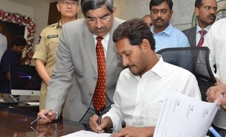 Jagan sets foot in office at specific time